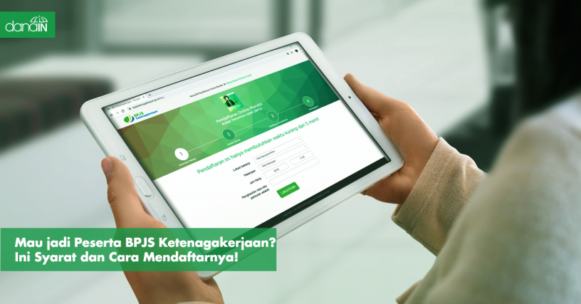 Danain-cara_mudah_daftar_bpjs_ketenagakerjaan-gambar tablet dengan wallpaper bpjs