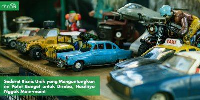 Danain-Bisni_unik_menguntungkan-Gambar miniatur mobil